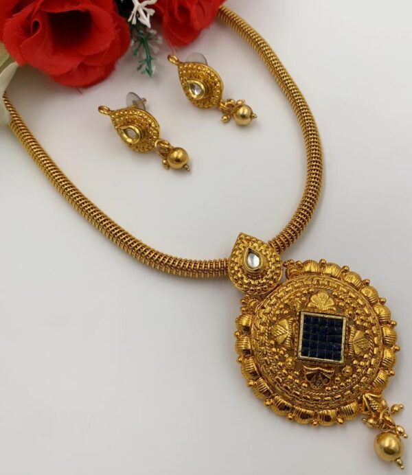 gold plated necklace with beautiful pendant