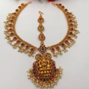 Short necklce with LAkshmi Pendant